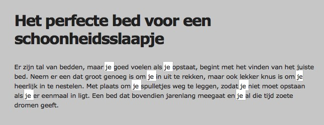 Gebruik van de je-vorm bij Ikea België