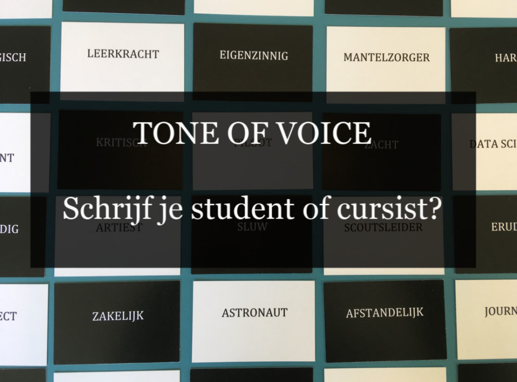 Tone of voice wat is het