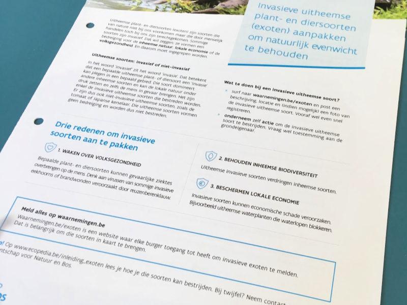 Brochure inhoud