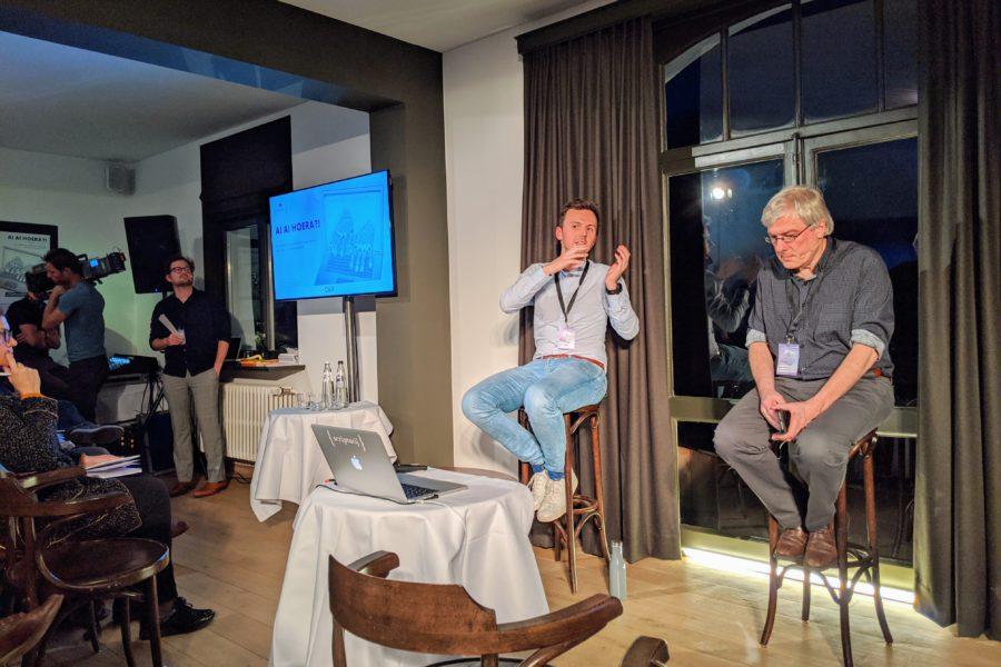 Maarten Callaert & Walter Daelemans op de Scriptorij Conferentie AI AI Hoera!?